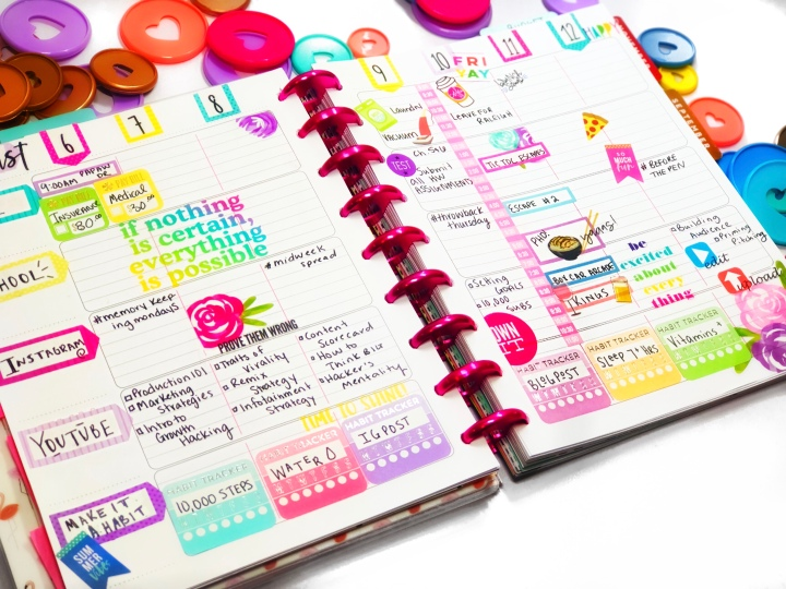 Staying Organized Using A Happy Planner + PWM!