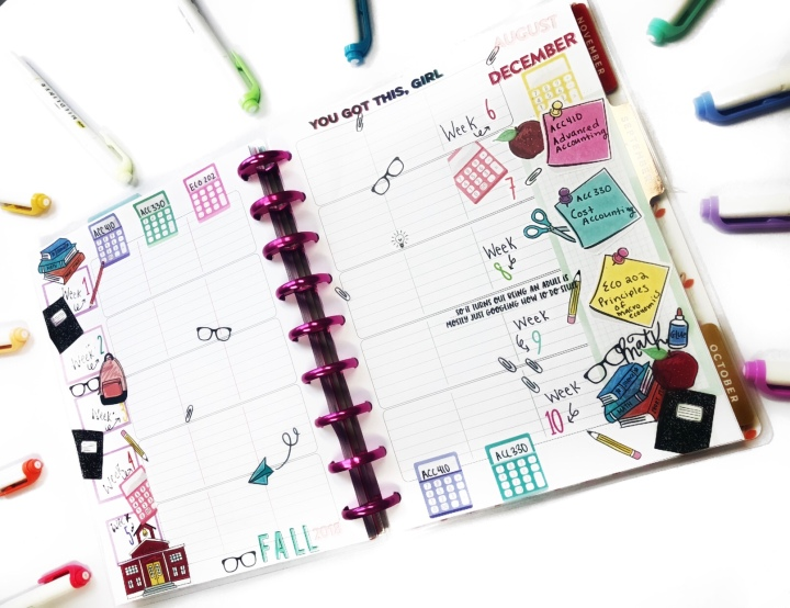 Staying Organized in College by Having a SemesterOverview